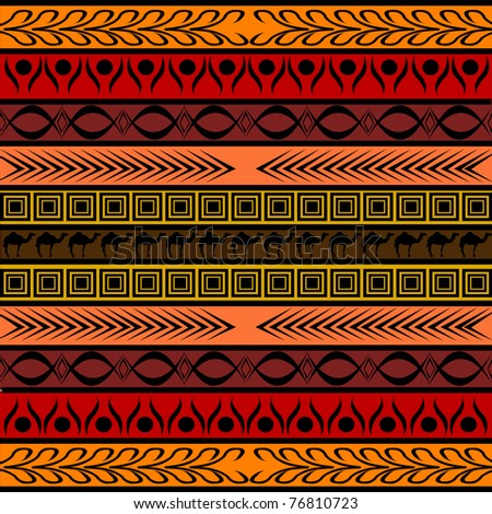 African pattern in various colors and shapes - stock vector