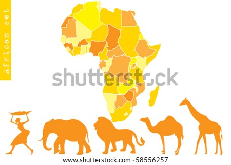 African set - stock vector