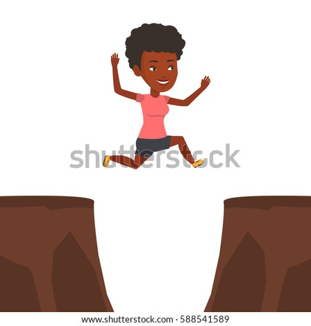 Africanamerican sportsman jumping across gap one stock for Jump the gap