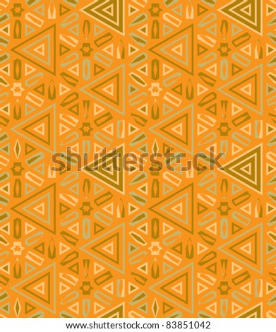 african traditional decor seamless background vector illustration