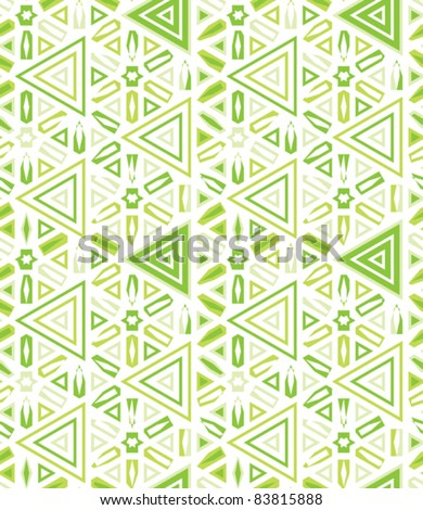 african traditional decor seamless background with stars and triangles vector illustration - stock vector
