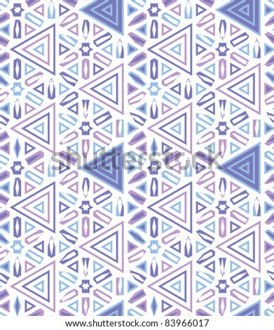 african traditional textile decor seamless background with stars and triangles vector illustration - stock vector