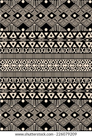 African tribal pattern ethnic Easy African Tribal Patterns