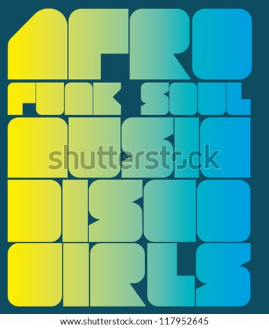 afro funk soul music - stock vector