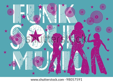 afro girls - stock vector