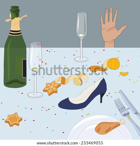 After The Party (transparency / eps10) - stock vector