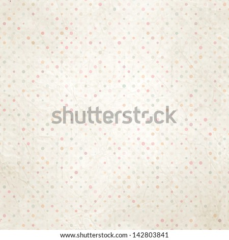 Aged and worn paper with polka dots. And also includes EPS 10 vector - stock vector