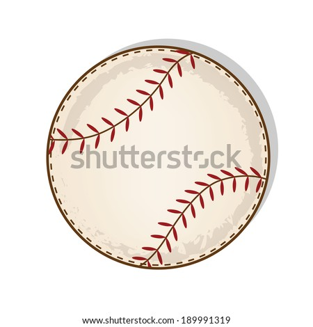 aged vintage baseball vector on a transparent background - stock vector