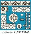 Agra Design Elements Set Two - stock vector