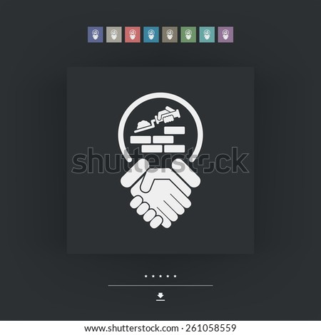 Agreement for construction - stock vector