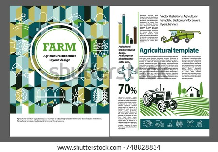 Agricultural Brochure Layout Design Example Backdrop 748828834