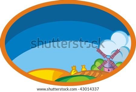 agricultural landscape - stock vector