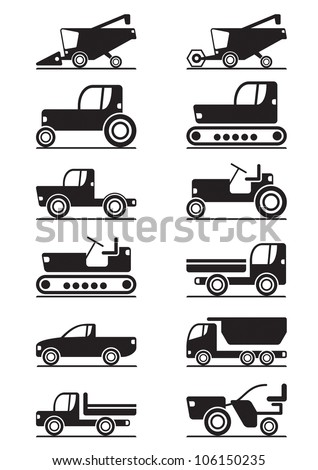 Agricultural machinery - vector illustration - stock vector