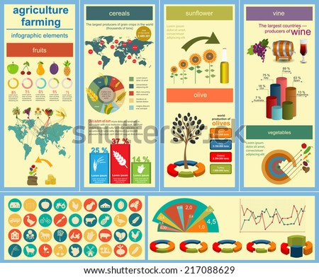 Agriculture, farming infographics. Vector illustration - stock vector