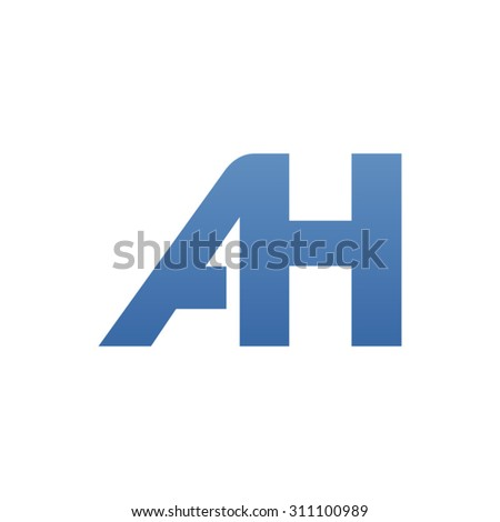 AH letter logo connected - stock vector
