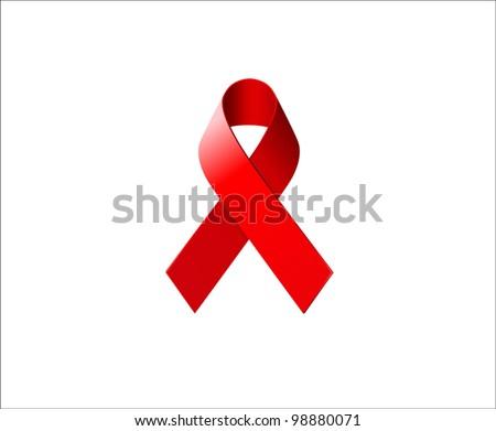AIDS Awareness Ribbon - stock vector