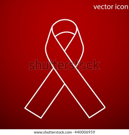 AIDS awareness ribbon icon vector and jpg. Flat style object. Art picture drawing. Eps 10. Web icons. - stock vector