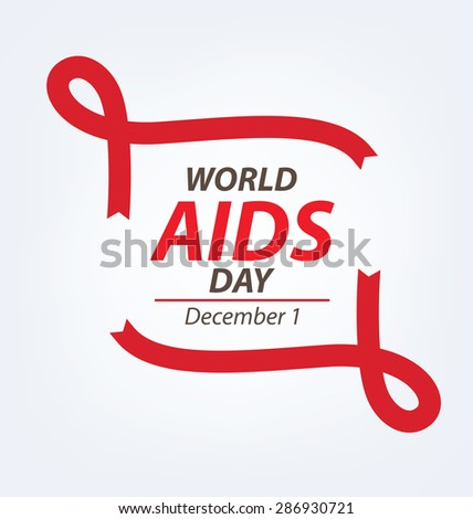 Aids Awareness. World Aids Day concept. Vector illustration. - stock vector