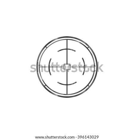Aim on a white background, vector graphics - stock vector