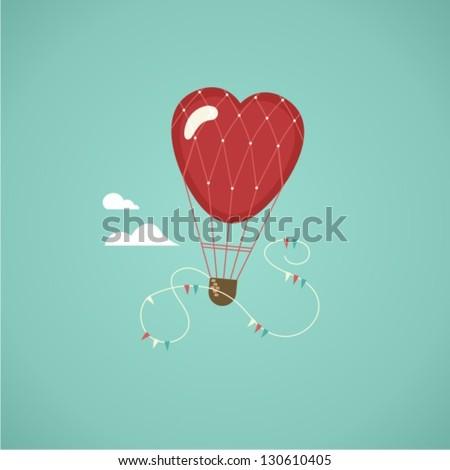 air balloon - stock vector