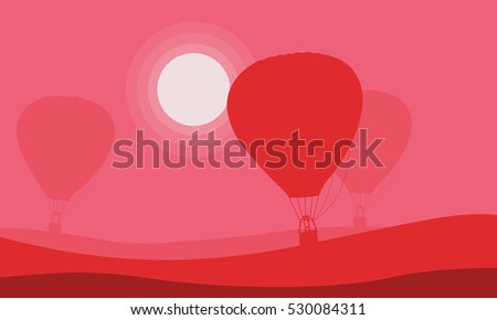 Air balloon background for valentine day