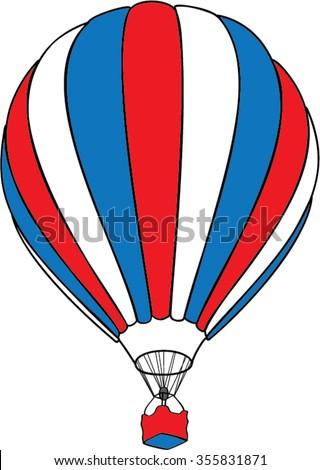 air balloon isolated illustration - stock vector