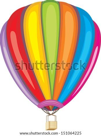Air balloon isolated on the white. Vector - stock vector