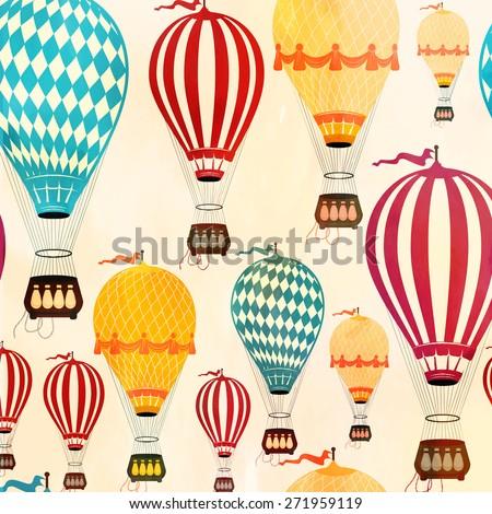 Air balloon pattern - stock vector