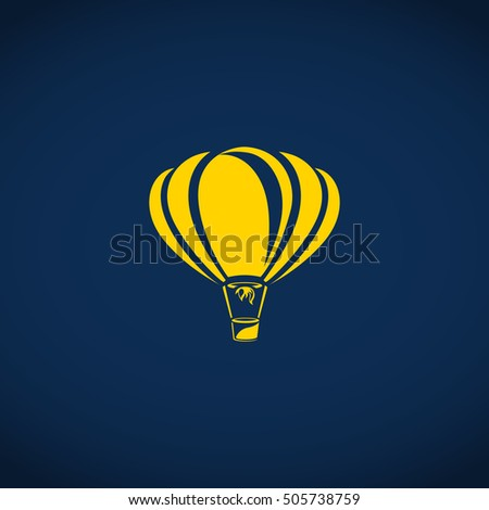 air balloon vector icon
