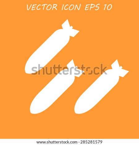 Air bomb vector icon. Flat vector illustrator - stock vector