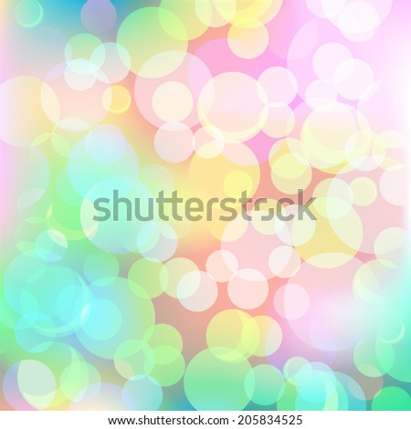 Air Bubbles on a blue background - stock vector