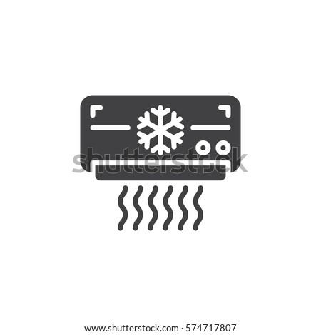 Air Conditioner Icon Vector Filled Flat Stock-vektorgrafik 574717807 ...