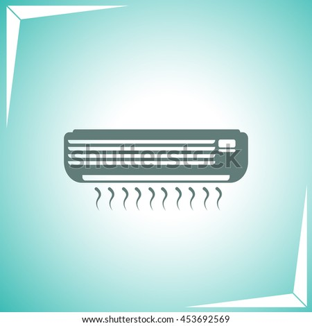 Air conditioner icon vector. Simple illustration.