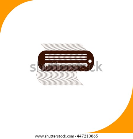Air conditioner sign. Brown icon on white background