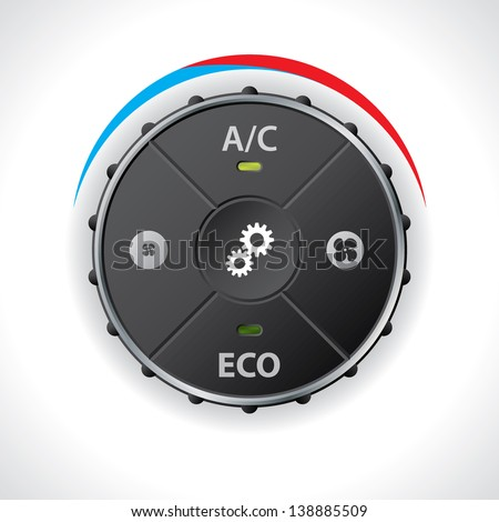 Air conditioning gauge with no led display - stock vector