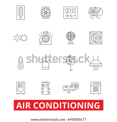 Air Conditioning Hvac Coolling Heating Refrigerator Stock ...