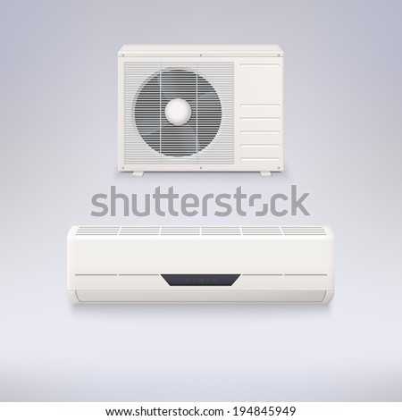 Air conditioning system, vector icons for your design and presentations. - stock vector