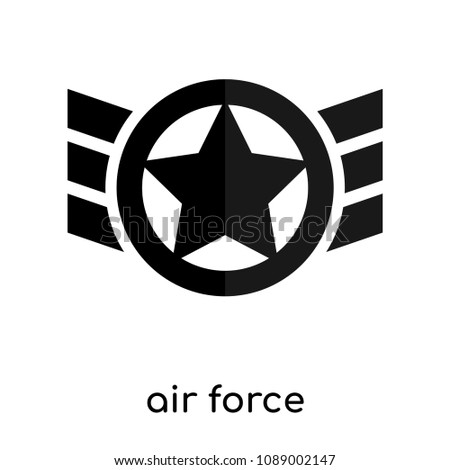 Air Force Symbol Old Isolated On Stock Vector 1089002147 Shutterstock