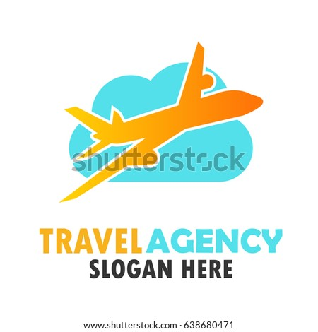 Air Plane Logo Travel World With Text Space For Your Slogan Tag Line