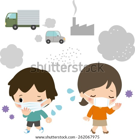 air pollution  - stock vector