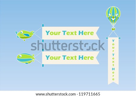 Air transport - stock vector