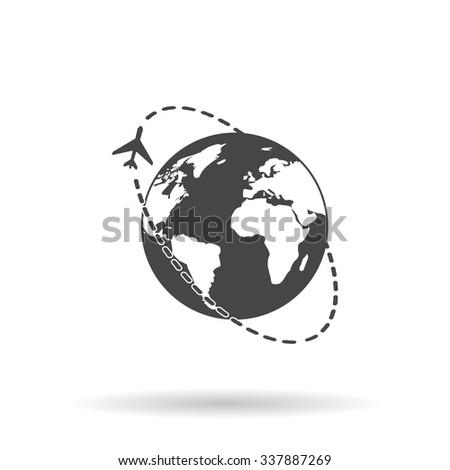 Air travel destination. Icon Vector - stock vector