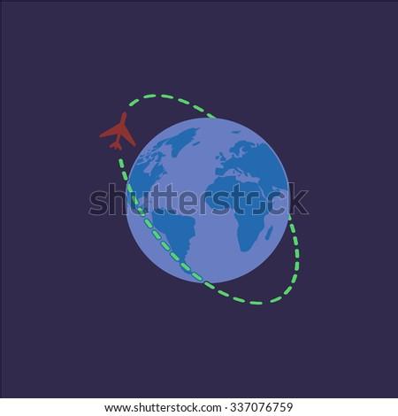Air travel destination. Icon Vector. Icon Picture. Icon Graphic. Icon Art. Icon JPG. Icon JPEG. Icon EPS. Icon AI. Icon FLAT. Icon SIMPLE - stock vector