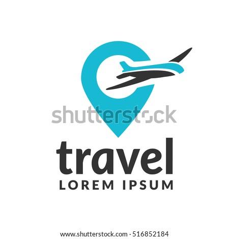 air travel logo template travel logo stock vector 516852184