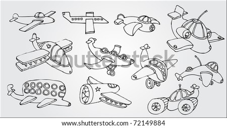 aircraft in the air - stock vector