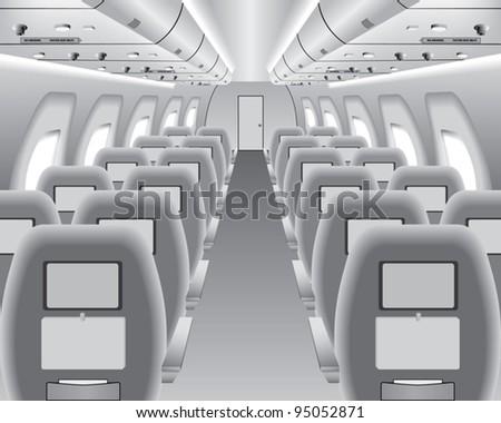 Aircraft Interior - stock vector