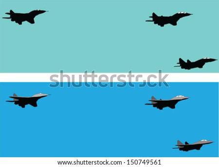 aircraft - vector - stock vector