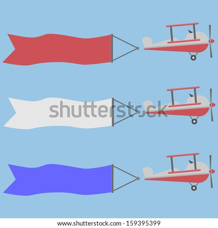Aircraft, vector banner - stock vector
