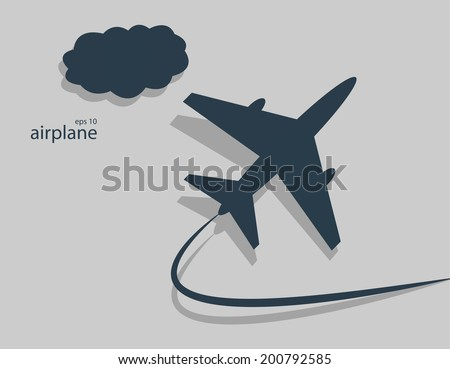 Aircraft. Vector illustration - stock vector