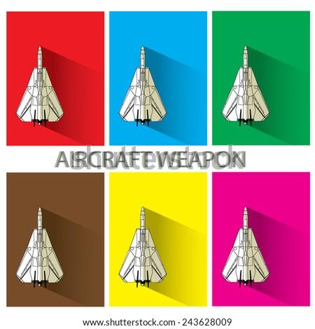 aircraft weapon - stock vector